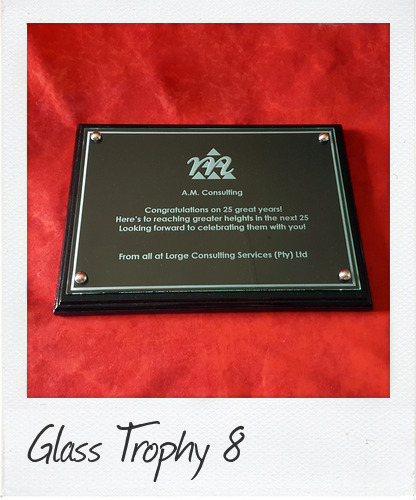 Wooden Wall Plaque Award with Glass Front