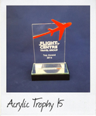 rectangle acrylic trophy
