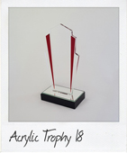 Colored edged acrylic trophy