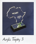 acrylic africa trophy with green