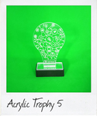 Perspex light bulb trophy