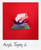 Perspex fish jumping trophy