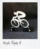 Acrylic cycling trophy