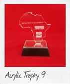 Acrylic trophy africa shape