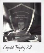 crystal trophies shield shape