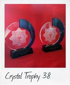 crystal trophy 38