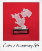 Custom Glass Wedding Trophy