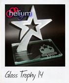 jumping glass star shaped award