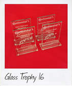 Rectangle glass trophy