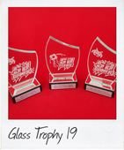 curved top glass award