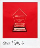 kite shape glass trophy