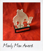 Custom Trophies manly man award trophy link