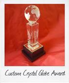 Custom Crystal Globe Trophy