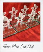custom glass man trophy