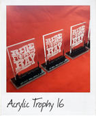 Acrylic Trophy with black perspex Johannesburg cut-out
