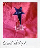 Big Blue Star Crystal Trophy
