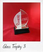 glass sail trophy
