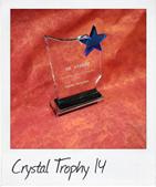 Crystal Award 14 with blue star