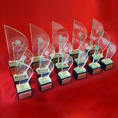 glass sail trophies