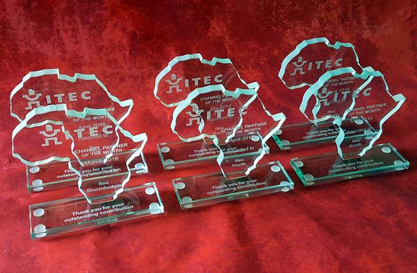 mini glass africa trophies
