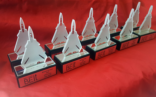Custom Glass Jet Awards