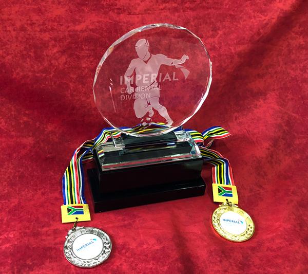Crystal Soccer Trophy