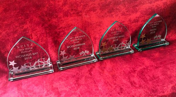Polished Glass Trophies