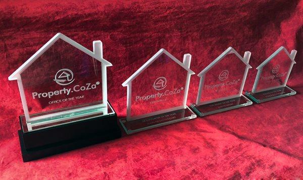 Custom Glass House Trophies