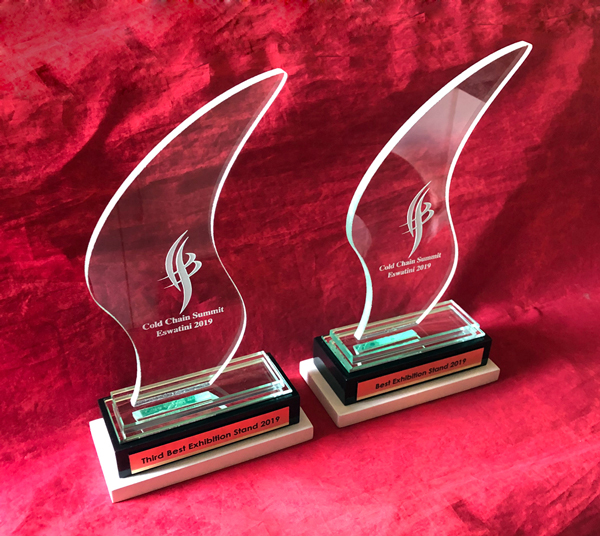 Custom Wave Glass Trophies
