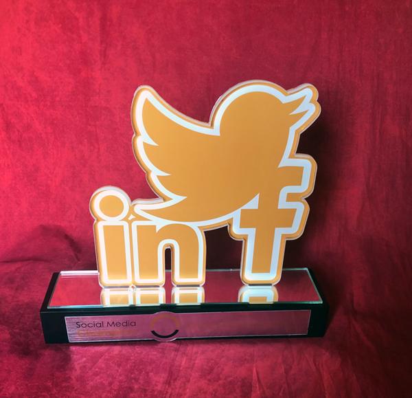 Custom Social Media Trophy