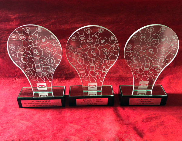 custom glass light bulb awards