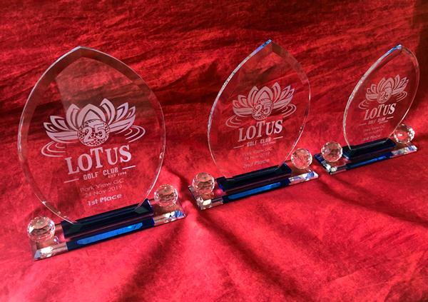 Leaf crystal trophies