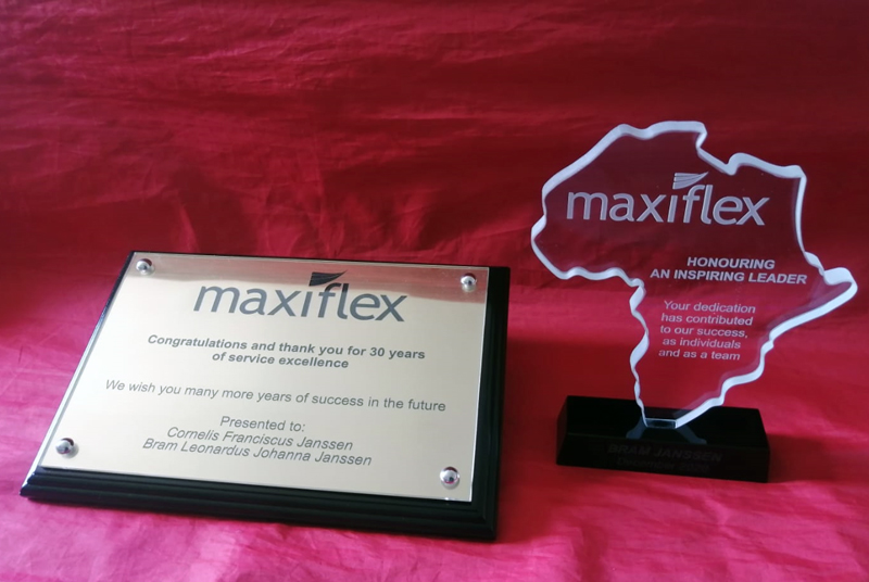 Plaque and crystal trophy